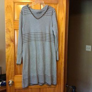 Parma long sleeve sweater dress with hood